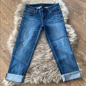 White House Black Market Cuffed Slim Cropped Jeans